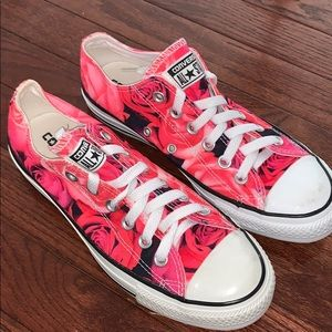 Converse Shoes - Rose print Converse sneakers